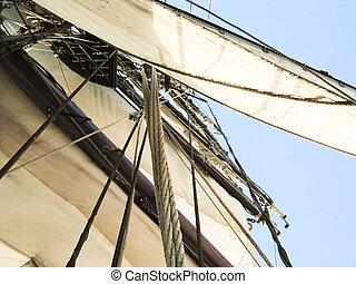 View of sailboat mast