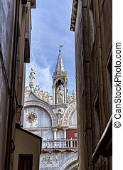 View of Saint Mark Basilica in Venice