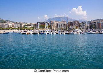 View of Salerno marina