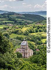 View of San Biagio church Tuscany