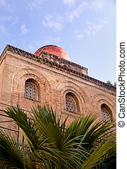 San Cataldo, Norman church in Palermo - View of San Cataldo,...