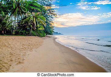 View of sand beach