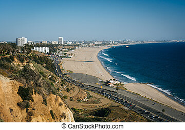 View of Santa Monica and the Pacific Ocean, in Pacific Palisades