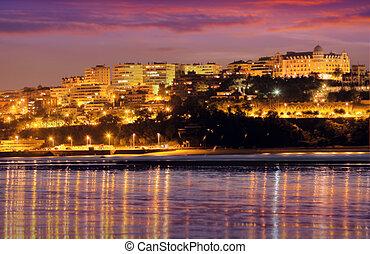 View of Santander in evening. Spain