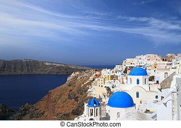 View of Santorini island in Greece