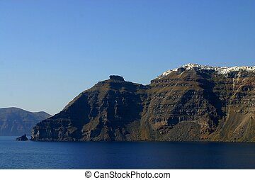 View of Santorini\'s volcano, Greece