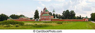view of Savior-Borodino Convent in summer weather. 2013 Russia