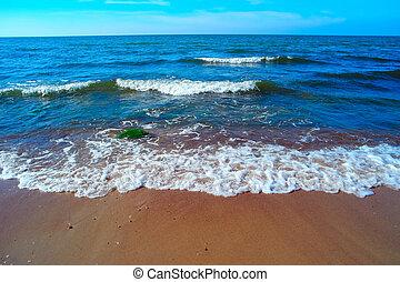 View of scenic blue sea