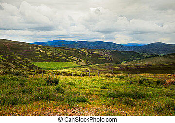 View of Scottish Highlands landscap
