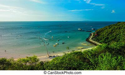 View of sea beach.