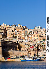 View of Senglea. Malta - View of Senglea from Dockyard Creek...