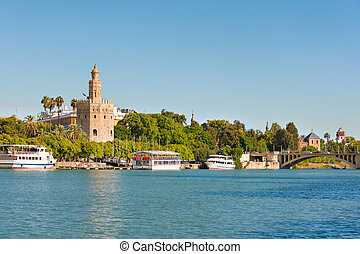 Seville in a sunny summer day