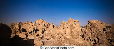 View of Shali old city ruins, Siwa oasis in Egypt