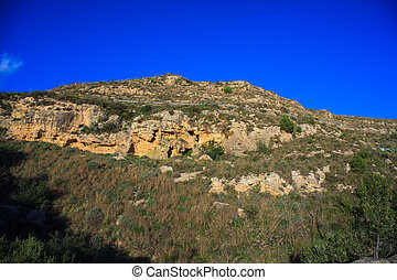 View of sicilian scenic countryside