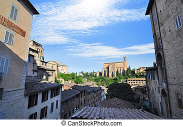 View of Siena from the rooftops