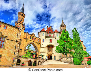 View of Sigmaringen Castle in Baden-Wurttemberg, Germany.