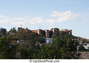 Silves Castle in the Algarve region of Portugal