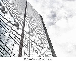 View of skyscraper windows