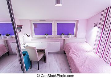View of small bedroom
