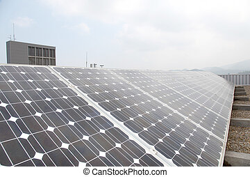 View of solar panels