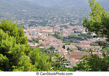 View of Soller panorama in Mallorca island, Spain.