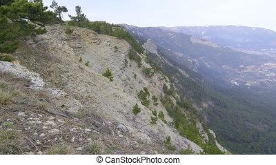 View of south coast of Crimea and Yalta city from Ai-Petri...