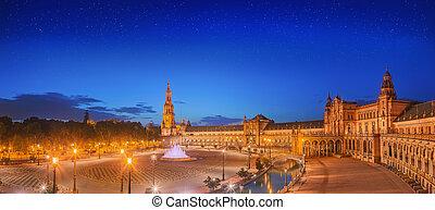 View of Spain Square on sunset, landmark in Renaissance ...