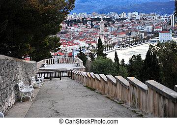 View of Split city center
