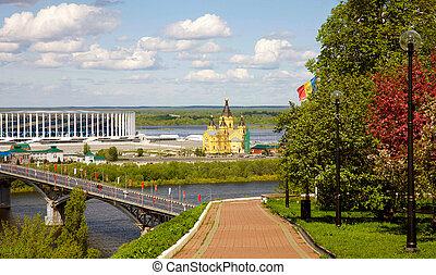 View of spring Nizhny Novgorod from the embankment