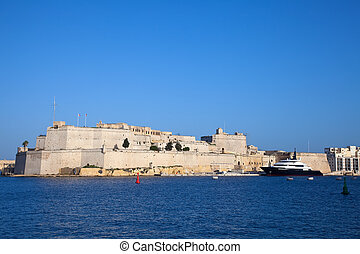 View of St. Angelo Fort. Malta
