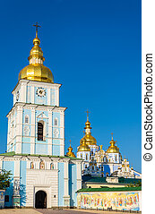 View of St. Michael Golden-Domed Monastery in Kiev, Ukraine
