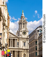 View of St Paul's Cathedral in London - England