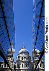 View of St. Paul's Cathedral in London.