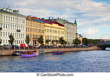 View of St. Petersburg. Fontanka River