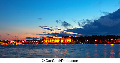 View of St. Petersburg in sunset