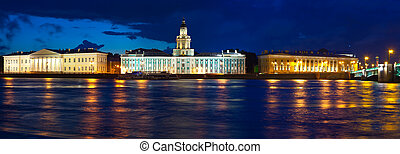 View of St. Petersburg n night - View of St. Petersburg. ...