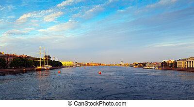 Neva river in morning
