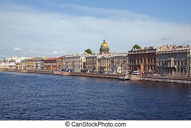 Neva river - View of St. Petersburg, Russia. Neva river