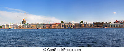 View of St. Petersburg, Russia. The English embankment