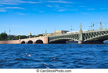 View of St. Petersburg. Trinity Bridge