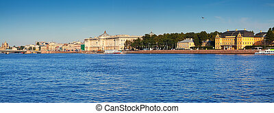 View of St. Petersburg. Vasilyevsky Island