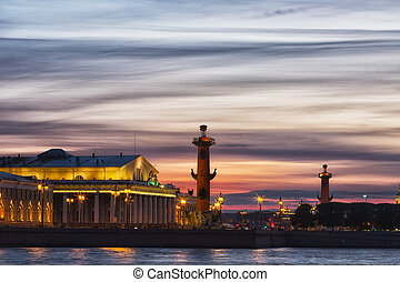 view of St. Petersburg. Vasilyevsky Island in White Night