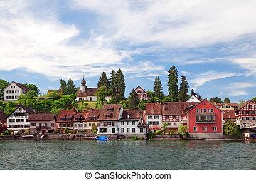 view of Stein Am Rhein. Switzerland. Europe
