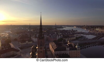 View of Stockholm Sweden early morning