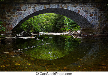 stone bridge - View of stone bridge in Glenfinnan at evening...