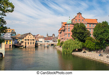 View of Strasbourg city center. France