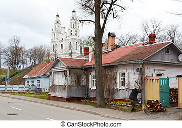 View of street in historic part of Polotsk