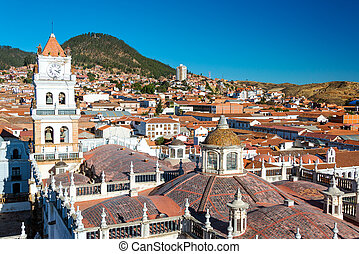 View of Sucre, Bolivia known as the White City