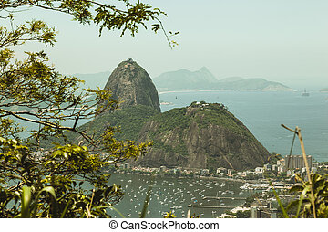 Sugar Loaf Mountain from Corcovado - View of Sugar Loaf...