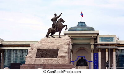 View of Sukhbaatar Square